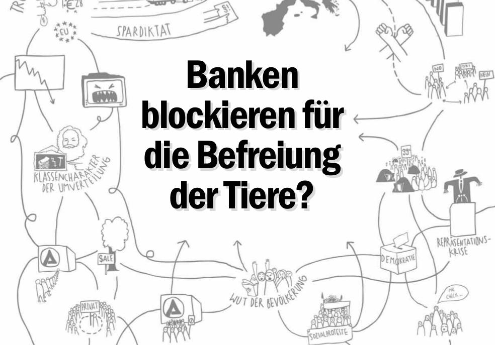 Banken blockieren für die Befreiung der Tiere?
